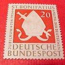 """German Scott's set #724 A153 """"Bishop's Miter and Sword"""" June 5,1954"""