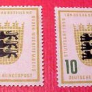"German Scott's set #729-30 A158 ""Arms of Baden-Wurtenberg"" June 1,1955"
