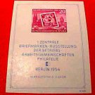 "German GDR Scott's Souvenier Sheet imperf. #226a A61 ""Types of 1953 Redrawn"""