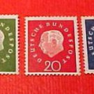 "German Scott's set #793-97 A208 ""Wmk.304"" 1959"
