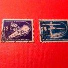 "German Democratic Republic Scott's # 51&52 "" March 2,1950"