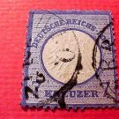 German Scott's # 10 A1 7kr ultra1872 Center Embossed