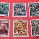 "German GDR Scott's 259-264 A74 Full set""Friedrich Engels"" Nov.7,1955"