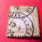 German Scott's # 20 A4 5gr 1872 Center Embossed
