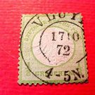 German Scott's # 2 A1 1/3 green 1872 Center Embossed