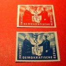 "German Democratic Republic Scott's #80-81 ""Polish-German Handshake"" Apr.22,1951"