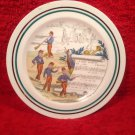 "French Petite Decortive Plate signed by Artist ! "" La Dame Blanche"""