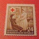 "German Democratic Republic Scott's #177 A47 ""Nurse applying Bandage"" Oct.23,1953"
