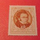 """German Democratic Republic Scott's set 186 A51 """"Franz Shubert""""Nov.13,1953"""