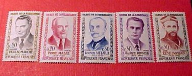 "France Scott set 959-963 A293 'Portraits"" Mar.26,1960"