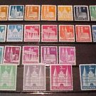 "German Scott's #634-661 A127-131 ""Famous Buildings"" 1948-1951 Complete set !"