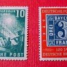 "German Scott's #665-6 A133""Reconsrtuction and Bavaria Stamp"" Sept 7,1949 ""Set"""