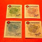 "German Scott's set #8NB1-8NB4 OSP1 ""Cross in Red"" Feb.25,1949"