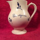 "Antique French""Petit dejeuner""(breakfast en Francais)Pitcher by Moulin des Loups"