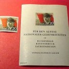 "German GDR Scott's 288 & 288a A83 souvenier set ""Ernst Thalmann"" Apr.16,1956"