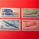 "German GDR Scott's 280-283 A79&80 set ""Lufthansa"" Feb.1,1956 !!"