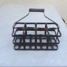 Antique French 8 Bottle Carrier, Rare find for 8! circa 1920
