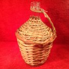 Vintage Viresa Demijean Wine Bottle with Wicker cover and handle