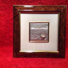 Sterling Silver .925 Italian Coastal Scene Beautifully Framed