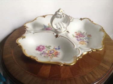 Vintage Large Three Lobed Handled Serving Tray from Germany