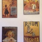 French Advertising Signs Set Of 4 Classic Products On Copper Signs