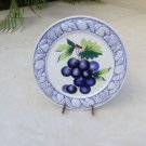 Large Vintage Italian Raised Majolica Grapes and Leaves Plate #60
