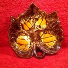 Vintage French Majolica Autumn Leaf By Vallauris