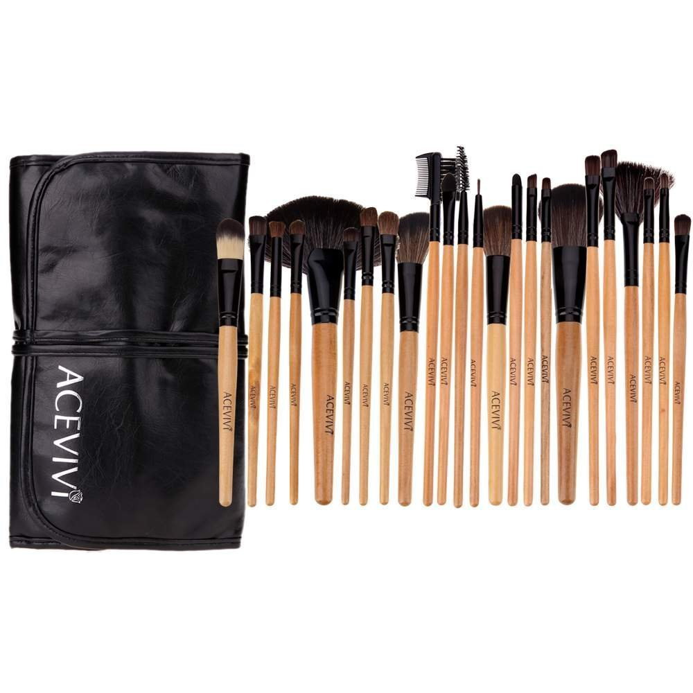 Professional 24 pcs Handmade Cosmetic Makeup Brushes Facial Brush Kit