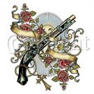 GUN AND ROSES - T SHIRT - ADULT UNISEX