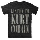 Nirvana Listen to Kurt Cobain Slim Fit T-Shirt