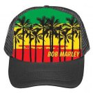 Bob Marley Palms Trucker Hat