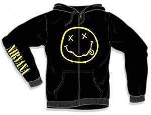 Nirvana Smile Discharge Zip Hoodie Sweatshirt