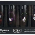 KISS Faces Shot Glass Set (4 Pack)
