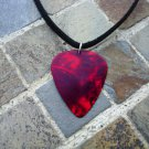 "Guitar Pick Necklace ""Ruby Red"" - Music Fashion Jewelry Gift!"