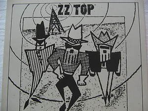 """ZZ TOP usa display S/T SELF SAME UNTITLED Rock 12"""" X 12"""" DOUBLE-SIDED POSTER. TH"""