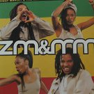 "ZIGGY MARLEY usa display ZM & MM Reggae 12"" X 12"" DOUBLE-SIDED POSTER. THIS IS N"