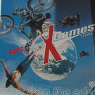 """X GAMES VOL 1 usa display MUSIC FROM THE EDGE 12"""" X 12"""" DOUBLE-SIDED POSTER. THI"""