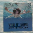 """WEIRD AL YANKOVIC usa display OFF THE DEEP END 12"""" X 12"""" DOUBLE-SIDED POSTER. TH"""