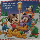 "WALT DISNEY usa display SHARE THE MUSIC OF DISNEY 12"" X 12"" DOUBLE-SIDED POSTER."