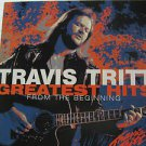 """TRAVIS TRITT usa display FROM THE BEGINNING Country 12"""" X 12"""" DOUBLE-SIDED POSTE"""