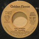 """TRAMMPS usa 45 LOVE EPIDEMIC 7"""" Vocal PROMO/WHITE LABEL/WRITING ON LABEL GOLDEN"""