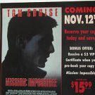 """TOM CRUISE usa display MISSION IMPOSSIBLE OST 12"""" X 12"""" DOUBLE-SIDED POSTER. THI"""