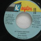 "TERRY GANZIE jamaica 45 AT YOUR SERVICE 7"" Reggae KINGSTON"