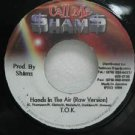 "T.O.K. jamaica 45 HANDS IN THE AIR 7"" Reggae CALL-ME"