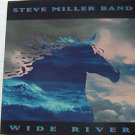 "STEVE MILLER BAND usa display WIDE RIVER Rock 12"" X 12"" DOUBLE-SIDED POSTER. THI"