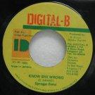 """SPRAGGA BENZ jamaica 45 KNOW SHE WRONG 7"""" Reggae DIGITAL-B"""