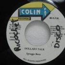 "SPRAGGA BENZ jamaica 45 DOLLARS TALK 7"" Reggae COLIN-FAT"