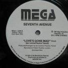 "SEVENTH AVENUE usa 12"" LOVE'S GONE MAD Dj WHITE JACKET MEGA"