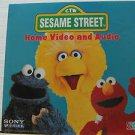 "SESAME STREET usa display HOME VIDEO AND AUDIO 12"" X 12"" DOUBLE-SIDED POSTER. TH"