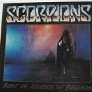 "SCORPIONS usa display BEST OF ROCKERS 'N' BALLADS 12"" X 12"" DOUBLE-SIDED POSTER."